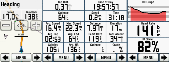 My Garmin Screens