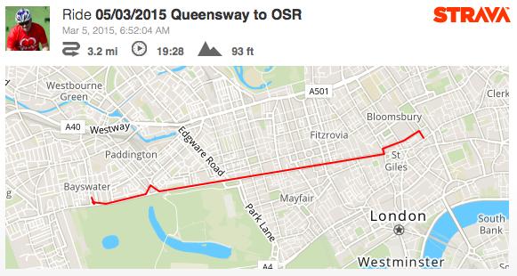 Oxford Street - 3 miles 19 minutes