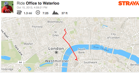 Office to Waterloo on a Boris Bike