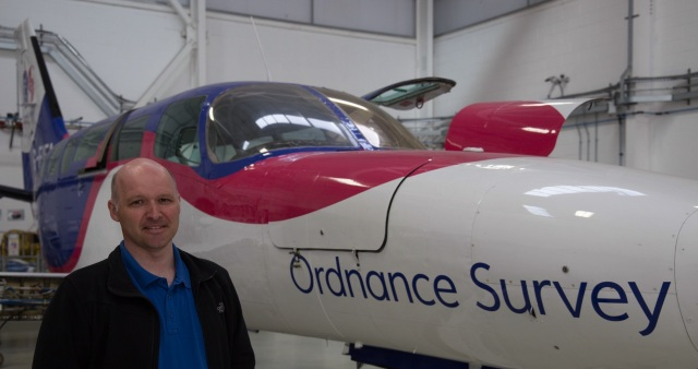 Ordnance Survey Cessna 404 / G-FIFA