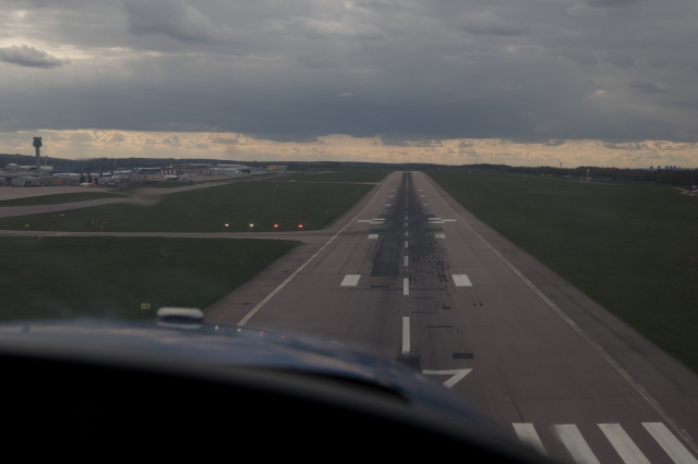 Landing at East Midlands