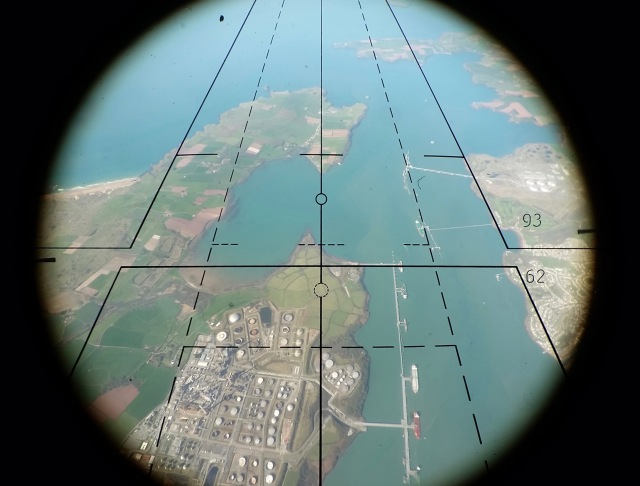 Image through the Air Camera Operators scope - Photo by Ordnance Survey