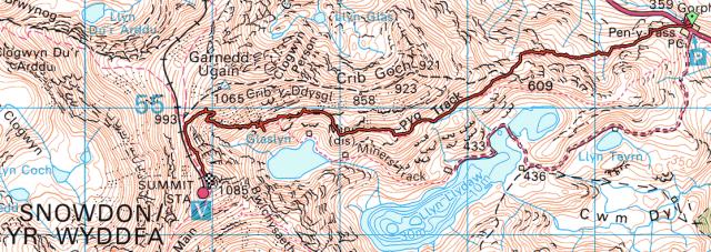 Ordnance Survey - Snowdon Pyg Track