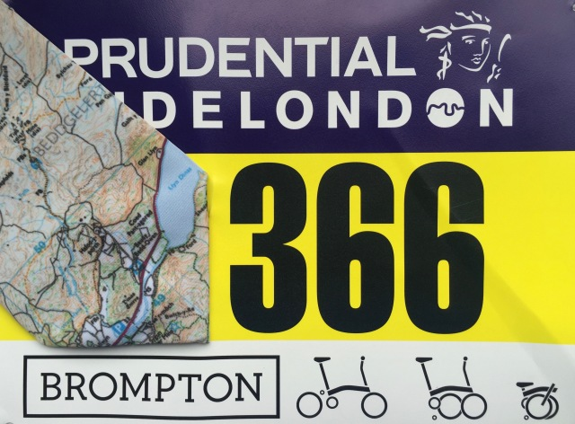 Snowdon OS Tie and Brompton Number